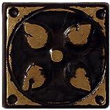 SomerTile FAZPATL Padov Metal Floor and Wall Tile, 1.625'' x 1.625'', Bronze/Black