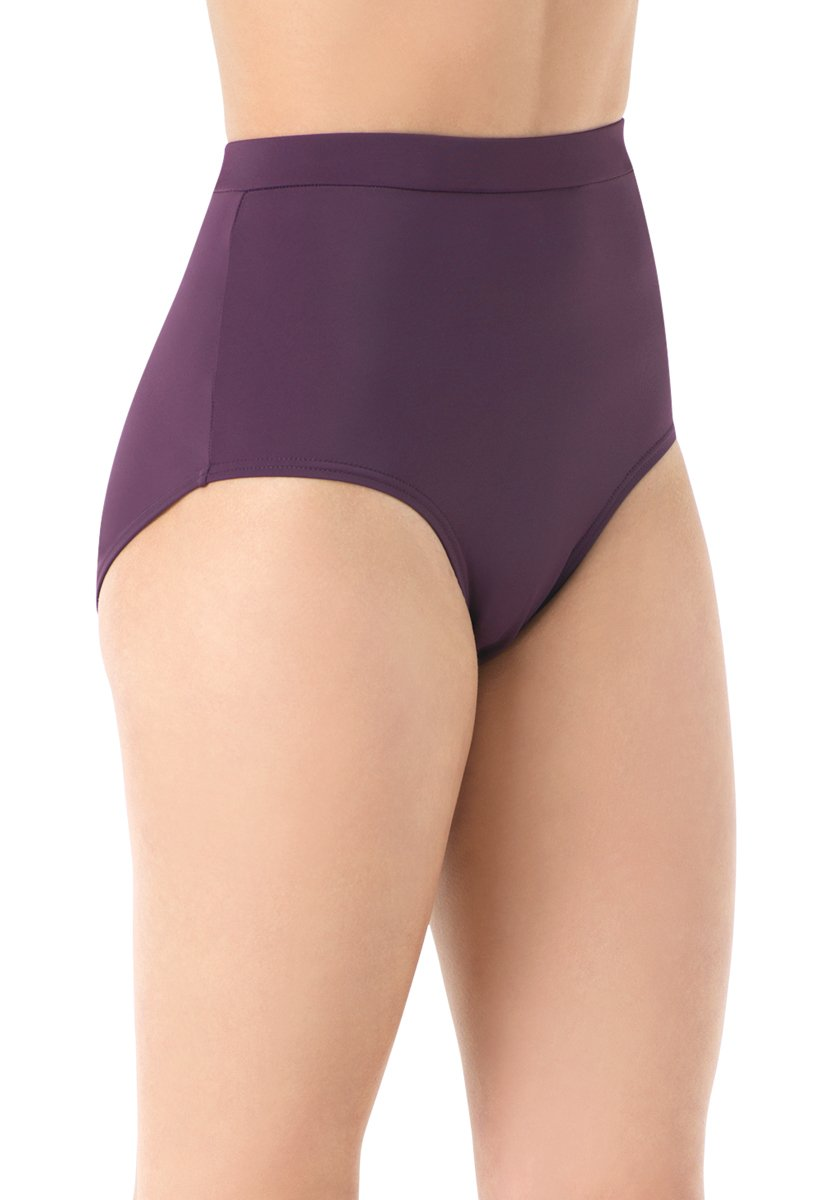 Balera Briefs Girls for Dance Womens Trunks Natural Rise Waist Bloomers Eggplant Adult X-Large by Balera