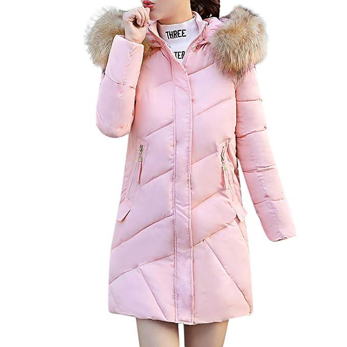 Linlink liquidación Invierno Mujeres Outwear con Capucha Outwear Abrigo Ocio Caliente de Pelo Largo Cuello de Delgado algodón Abrigo Slim Chaqueta Delgada: ...