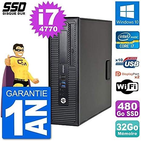 HP PC EliteDesk 800 G1 Core i7-4770 RAM 32 GB SSD 480 GB Windows ...