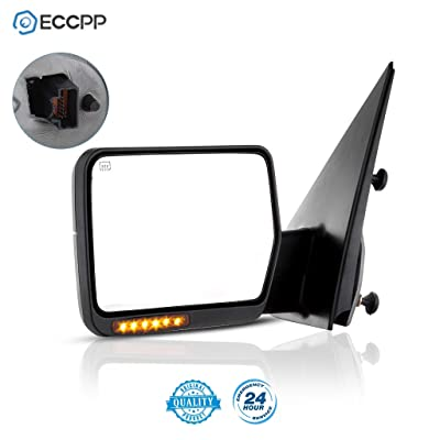 ECCPP Driver Side View Mirror Power Heated LED Turn Signal Lights Replacement fit for 2004 2005 2006 Ford F150 Truck Left Towing: Automotive