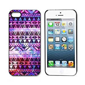 Aokdis New Hot Selling Fashional Individualized Hard Back Case for Iphone 5 5g 5s (Purple Tribal Andes Aztec Printed) by ruishername