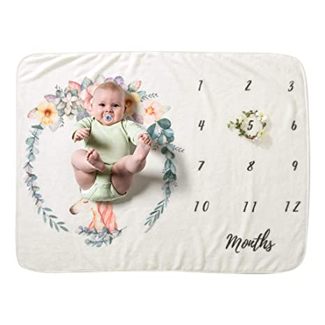 Mantas Bebe Recien Nacido 1-24 Meses 105 x 76cm Poliéster Mensual ...