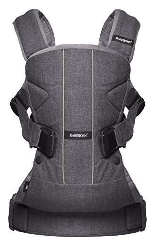 BABYBJORN Baby Carrier One - Denim Gray, Cotton by BabyBjörn