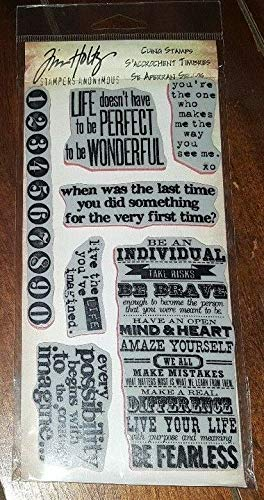 Tim Holtz Cling Stamps, Phrases