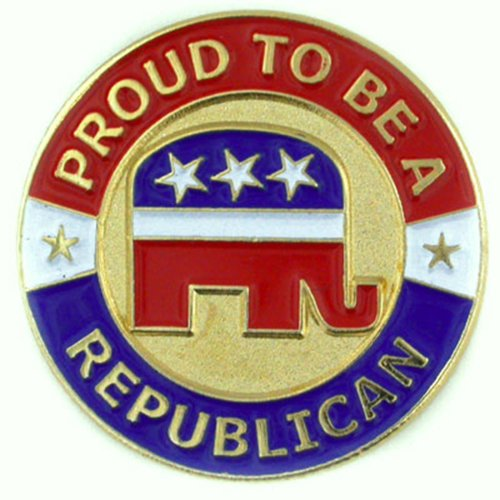 Elephant Pin Republican (PinMart Proud to be A Republican Patriotic Political Lapel Pin)