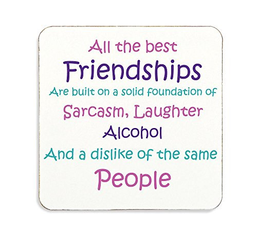All The Best Friendships Cork Back Coaster Best Friends Novely Funny Gift