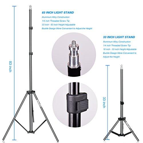 Emart Studio LED Photography Umbrella Lighting Kit, 500W 5500K LED Photo Lights for Camera Lighting, Continuous Lighting, Portrait Video Shooting – Umbrella Reflector Light by EMART (Image #4)