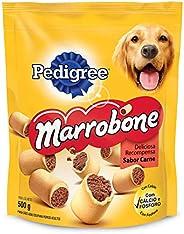 Biscoito Pedigree Marrobone Carne Para Cães Adultos 500G Pedigree para Todas Todos os tamanhos de raça Adulto