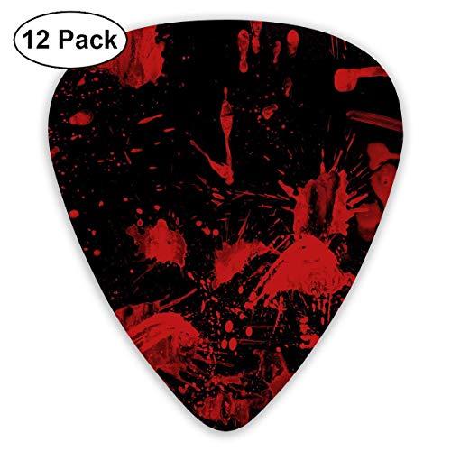 Anticso Custom Guitar Picks, Halloween Black Blood Fingerprint