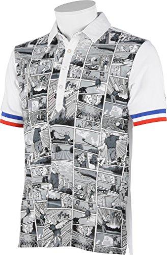 (ルコックスポルティフ/ゴルフコレクション)Le Coq Sportif/Golf Collection ゴルフ半袖シヤツ(ニツト) QG2944 [メンズ]