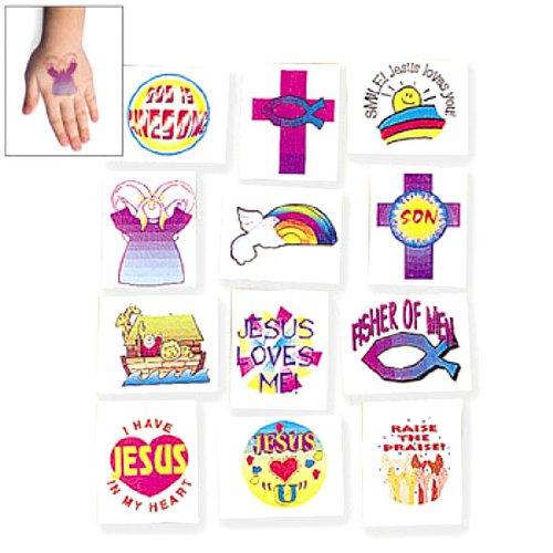 Religious Designs Tattoos (Religious Theme Temporary Tattoos (6 dz))