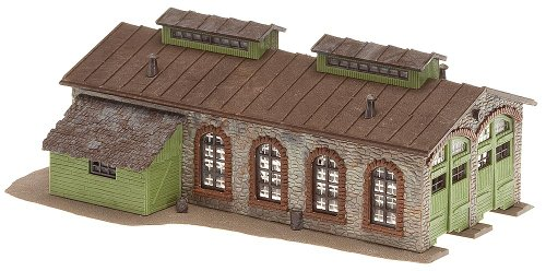 Faller 222116 2-Stall Stone Engine House N Scale Building Kit ()
