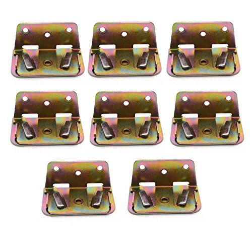 - Antrader Heavy Duty Wood Bed Rail Bracket Bed Slat Connector Wood Bed Support Metal Fastener -Set of 8
