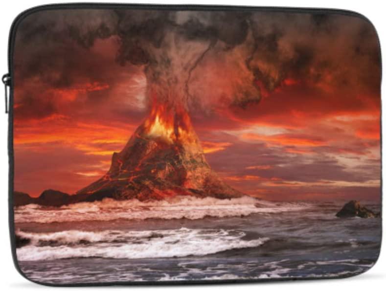 Designed to Fit Any Laptop//Notebook//ultrabook//MacBook with Display Size 11.6 Inches Volcano Eruption On Sea Pattern Neoprene Sleeve Pouch Case Bag for 11.6 Inch Laptop Computer