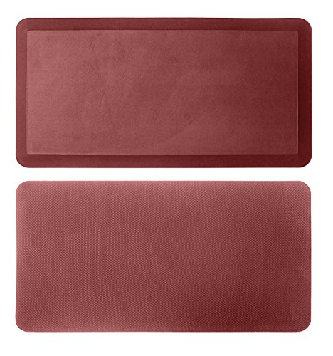 - Kitchen Anti Fatigue Mat Standing Desk Mat - SoftSaver 20 x 42 Inches - Floor Mat Sit Stand Workstation Office Floor Mats - Non-Slip Grip Red Mat