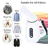 FUNSHION Steamer for Clothes or Facial Spa Lightweight Portable Handheld Garment Steamer Heat-Up Power Fabric Steamer for Home or Travel with Automatic Shut-Off Safety Feature