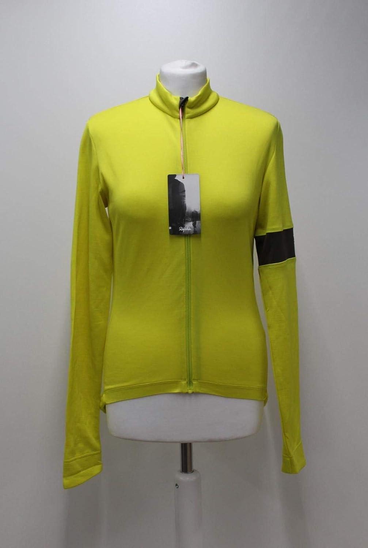 Rapha Ladies Yellow Wool Blend Classic II Long Sleeve Race Cycling Jersey S BNWT
