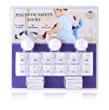 Baby & Child Proof Magnetic Safety Locks for Cabinets & Drawers - 12 Locks with 3 Keys - Heavy Duty 3M Adhesive Locks, Easy to Install, Invisible & Damage Free