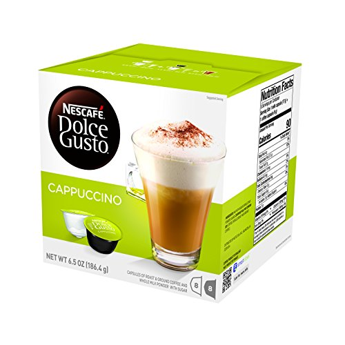 NESCAFE Dolce Gusto Coffee Capsules Cappuccino, 16 Count, Pack of 3
