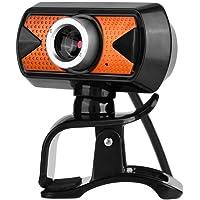 Tosuny 360 Grados USB2.0 Webcam 480p HD Cámara Web con Micrófono Externo Digital para PC