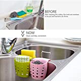 4PCS Sponge Sink Holder,Hanging Silicone Kitchen