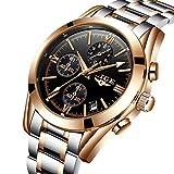 Mens Watches Full Steel Analog Quartz Watch for Men Luxury Brand Waterproof Luminous Sport Wristwatch