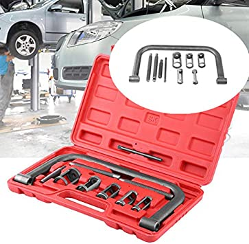 Car Small Engine Vehicle Equipment 10 pcs Auto Compression Clamp Tool Service Kit for Motorcycle ATV Qiilu Solid Valve Spring Compressor