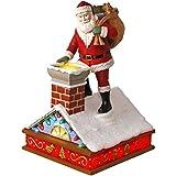 Hallmark Keepsake 2017 - Once Upon a Christmas Up on the Housetop Santa Music Ornament With Light