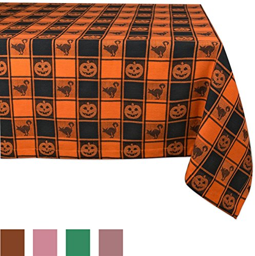DII 100% Cotton, Machine Washable, Dinner, Fall & Halloween Tablecloth