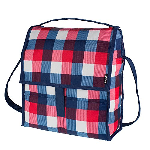 - PackIt Freezable Picnic Bag with Zip Closure, Buffalo Check