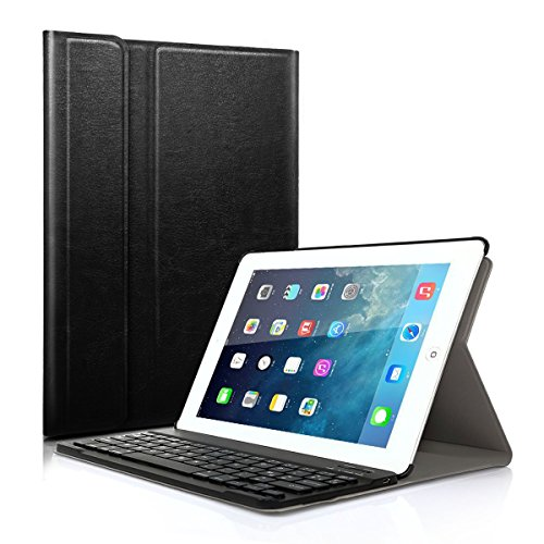 Spanish/Latin Español Keyboard Case fits for iPad 2017 5th/iPad 2018 6th, Wireless Bluetooth Keyboard Case for iPad Air 1 Air 2 / iPad 5 2017/iPad 6 2018/ iPad Pro 9.7