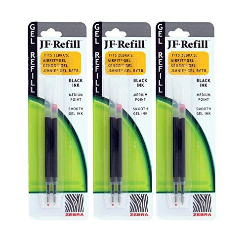 Zebra Jimnie Gel RT/Sarasa/Z-Grip Retractable Gel Pen Refills, 0.7mm, Medium Point, Black (Jimnie Gel Pens)