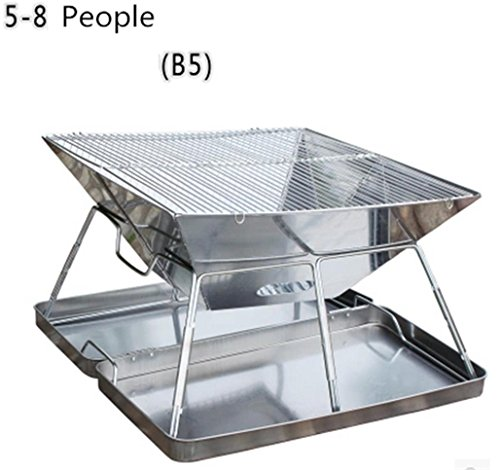 Grills Out Grills Camping Outdoor Grill BBQ Utensil Stainless Steel Pedestal Charcoal Barbecue Portable Folding Legs a BBQ Grill , 2 by HomJo