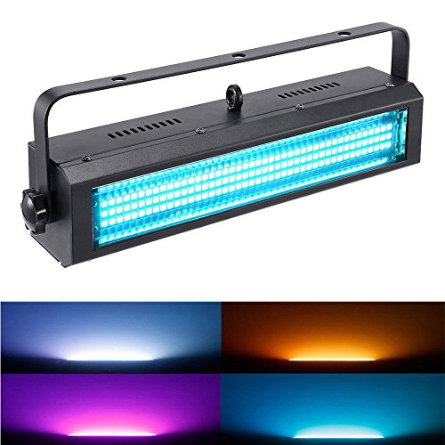 MFL. S100 Strobe Light 132 LED RGB Stage Lighting Strobe Blinder and Wash Light DJ Disco Lights Sound Activated Modes DMX control All in One for DJ Party Stage Lives Concert