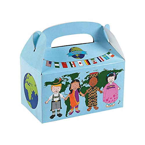 (Fun Express - Kids Around The World Treat Box - Party Supplies - Containers & Boxes - Paper Boxes - 12)