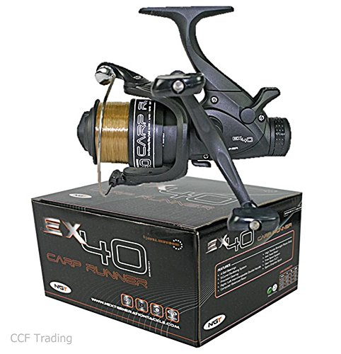 EX40 Bait Runner With Twin Handle + 10LB Line Spare Spool Carp Fishing Reel...