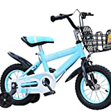 Great St. Children's Bicycle Baby Pedal Bicycle 2-10 Years Old Boy And Girl Mountain Bike ( Color : Blue, Size : 12 inches )