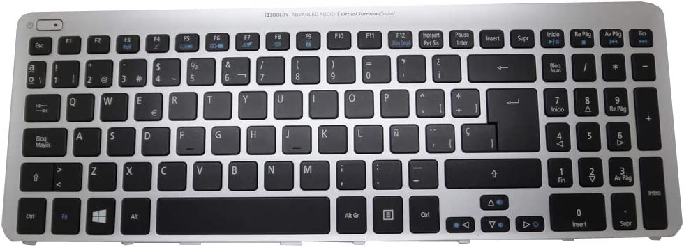 Laptop Keyboard for ACER Aspire M5-581 M3-581 V5-571 V5-531 MP-11F56E0-4424W Spain SP with Blue Frame