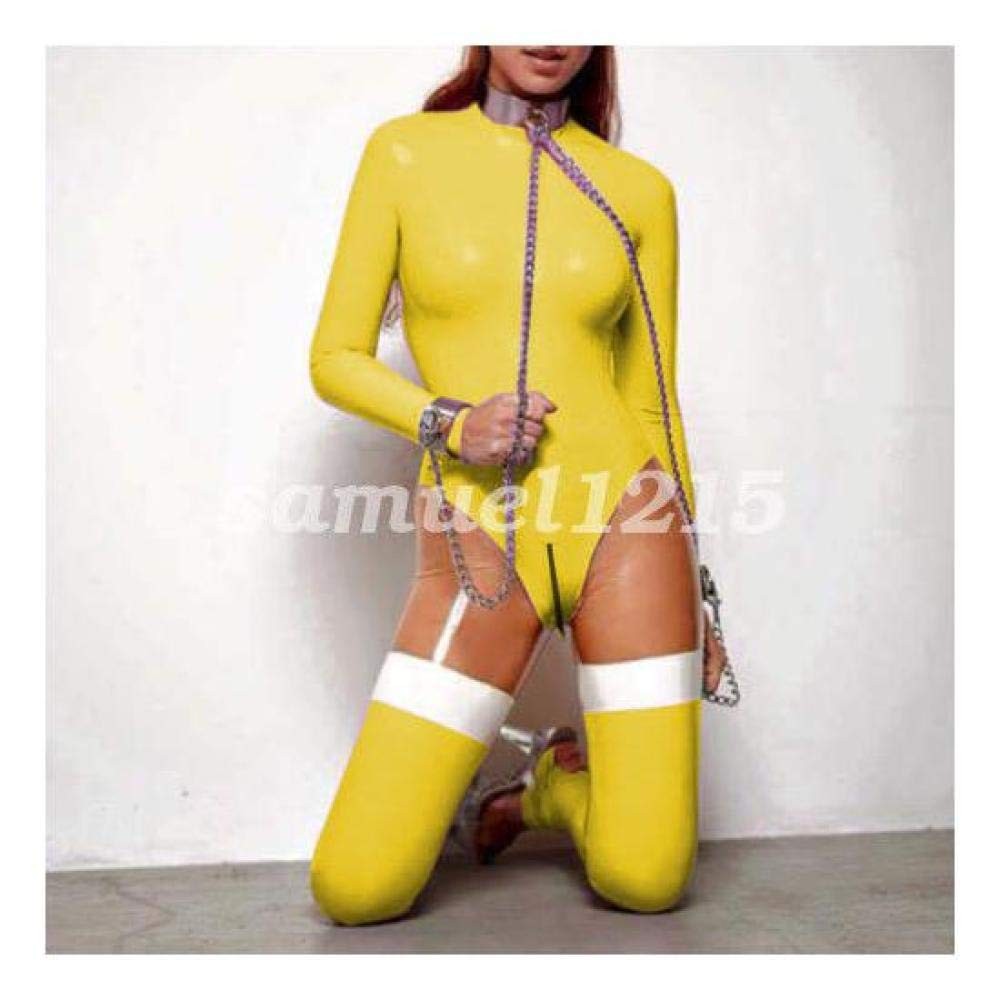 FidgetFidget Bodysuit Suit Tights Yellow XXSXXL