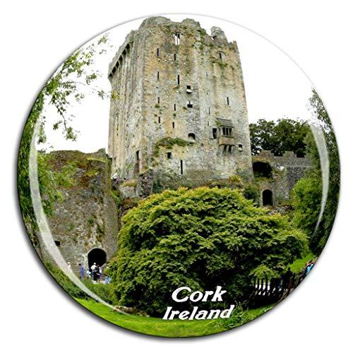 Blarney Castle Cork Ireland Fridge Magnet 3D Crystal Glass Tourist City Travel Souvenir Collection Gift Strong Refrigerator Sticker