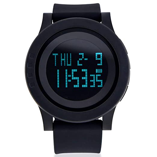 Lover's Watches Honesty Mens Watch Led Digital Date Sports Army Males Quartz Watch Outdoor Electronics Men Clock For Sports Wristband Running Gift Professional Design