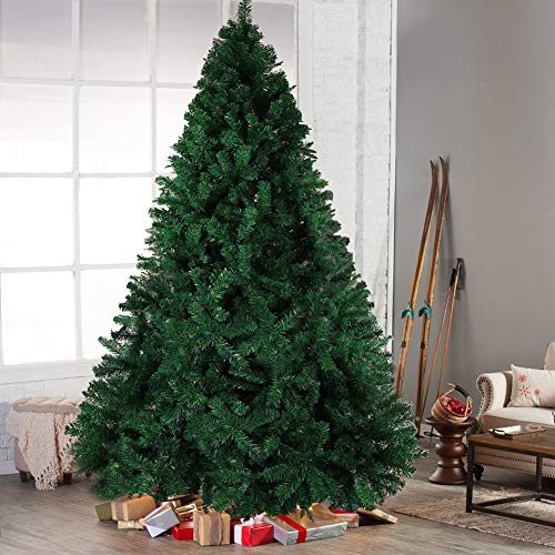 Hilai 6ft Artificial Christmas Tree Unlit Pine Tree with Solid Metal Stand  Fluffy Xmas Tree 1000 - Amazon.com: Hilai 6ft Artificial Christmas Tree Unlit Pine Tree With