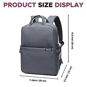 Camera Backpack DSLR/SLR Camera Bag Multifunction Travel Outdoor Waterproof Tablet Laptop Bag for Sony Canon Nikon - Drak