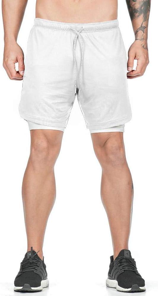 Superora Shorts Deportivos Hombre Pantalones Cortos Short de Ejercicio Deporte Secado R/ápido de Malla con Cord/ón para Playa Correr Jogging Running al Aire Libre Ligero y