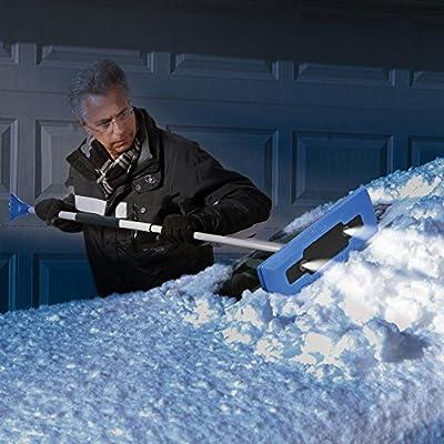 Snow Joe 4-in-1 Telescoping Snow Broom with Ice Scrapper