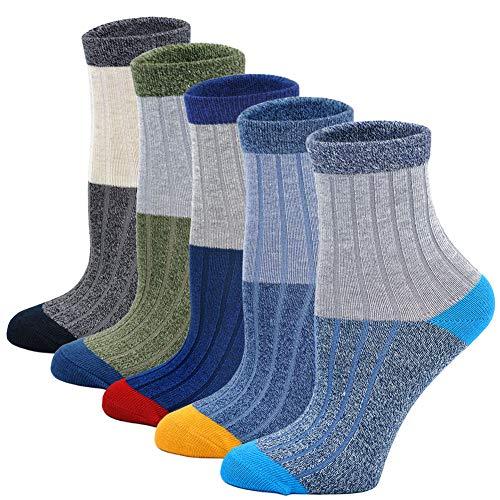 Boys Socks Cotton Kids Crew Socks Sport Basketball Soccer Athletic Ankle Soft Cute Breathable Toddler Baby Boy Sock 5 Pack