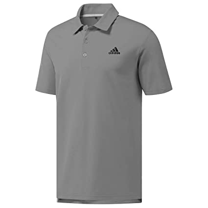 6cacc329 adidas Golf 2018 Ultimate 365 Solid Polo Mens Performance Golf Polo Shirt  Grey Three Small