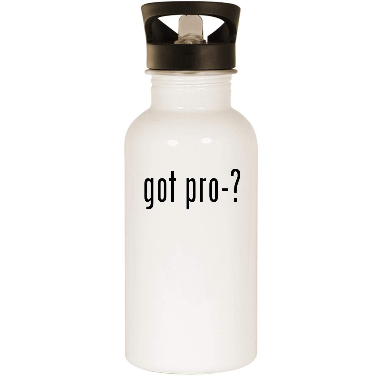got pro-? - Stainless Steel 20oz Road Ready Water Bottle, White