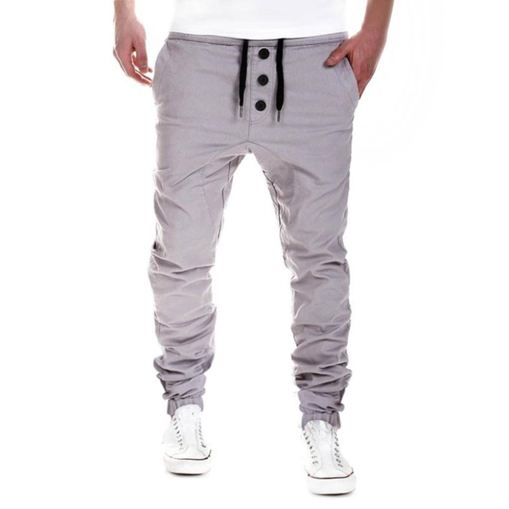 Forthery Mens Jogger Pants, Slim Fit Casual Active Elastic Sweatpants FT-824